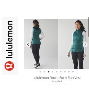 BNWT LuLuLemon Down For A Run Vest. Teal. Sz 8